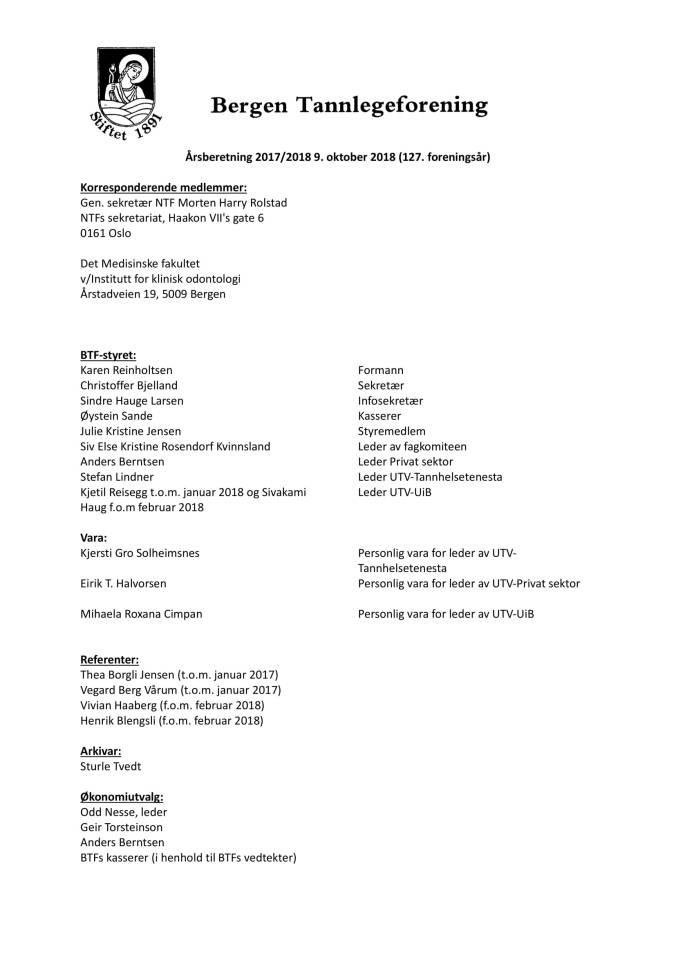 Saksdokumenter Generalforsamling i BTF 2018-01