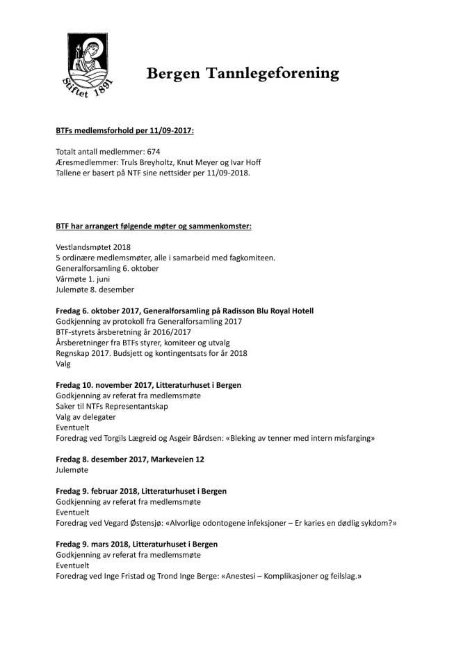 Saksdokumenter Generalforsamling i BTF 2018-04