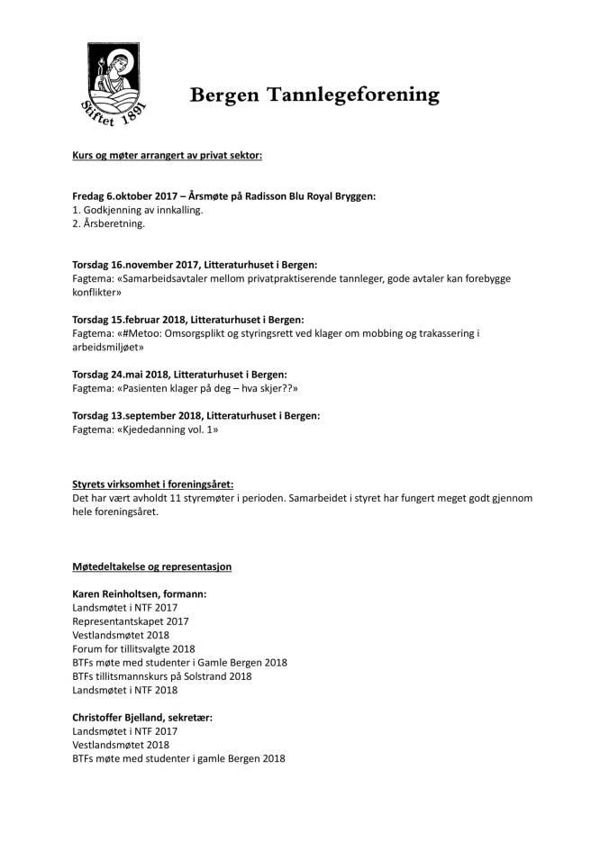 Saksdokumenter Generalforsamling i BTF 2018-07